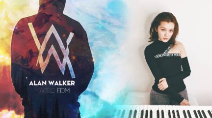 『鹤灵』用当铺古钢琴弹Allan Walker新电音《On My Way》鹤灵Healing即兴钢琴