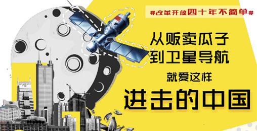 """【改革开放40周年】从卖瓜子到卫星导航,就爱""""进击的中国"""""""