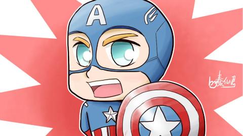 十分钟学画动漫人物--美国队长