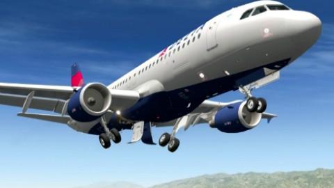 美国delta航空a320盐湖城起降