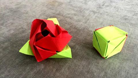 纸在乎你 手工折纸:魔术玫瑰