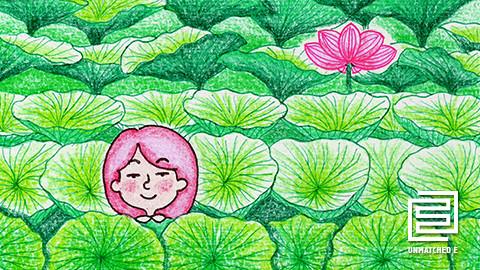 5-小艺莫及的夏天 手绘q版《菊次郎的夏天》海报