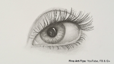 用铅笔画一只眼睛