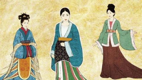 现代汉族服装简笔画