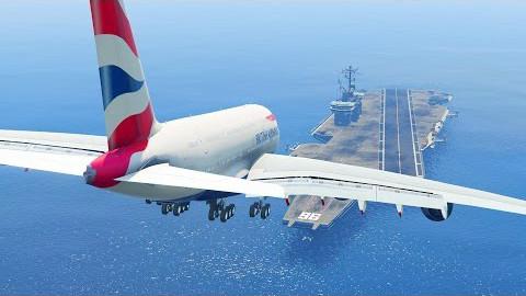 a380客机降落在航空母舰上