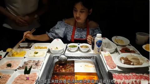 中国大胃王密子君(海底捞火锅)成功套路88折,哈哈,吃播吃货美食!