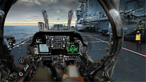 高清战斗机驾驶舱视角低空飞行
