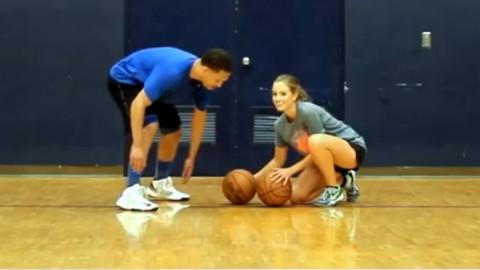美女教你如何提高运球速度[篮球运球]