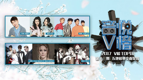 【V榜TOP10】第13期冯建宇、BY2、CleanBandit、CNBLUE、Royz夺冠