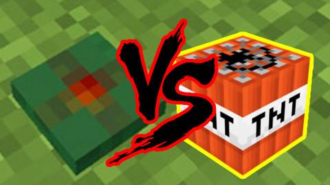 我的世界:地雷厉害还是TNT厉害?Part1