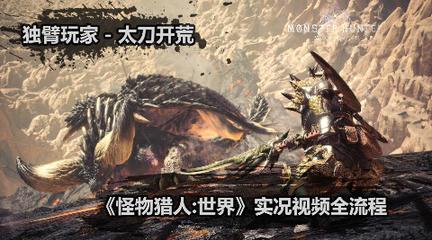 独臂玩家《怪物猎人:世界》全剧情流程视频-太刀开荒实况(已完结)