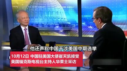 崔天凯大使接受福克斯采访