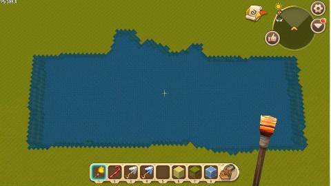 迷你世界: 河神专用火把, 一秒就能把平地变成河流!Part1