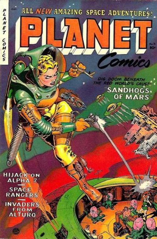 美国老科幻漫画杂志《planet》封面