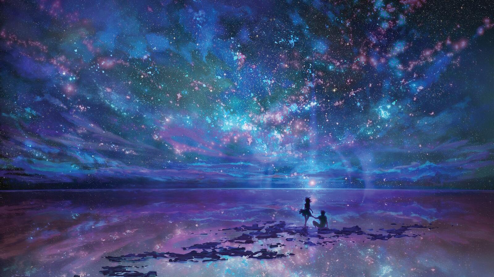 二次元美图 星空 夜空
