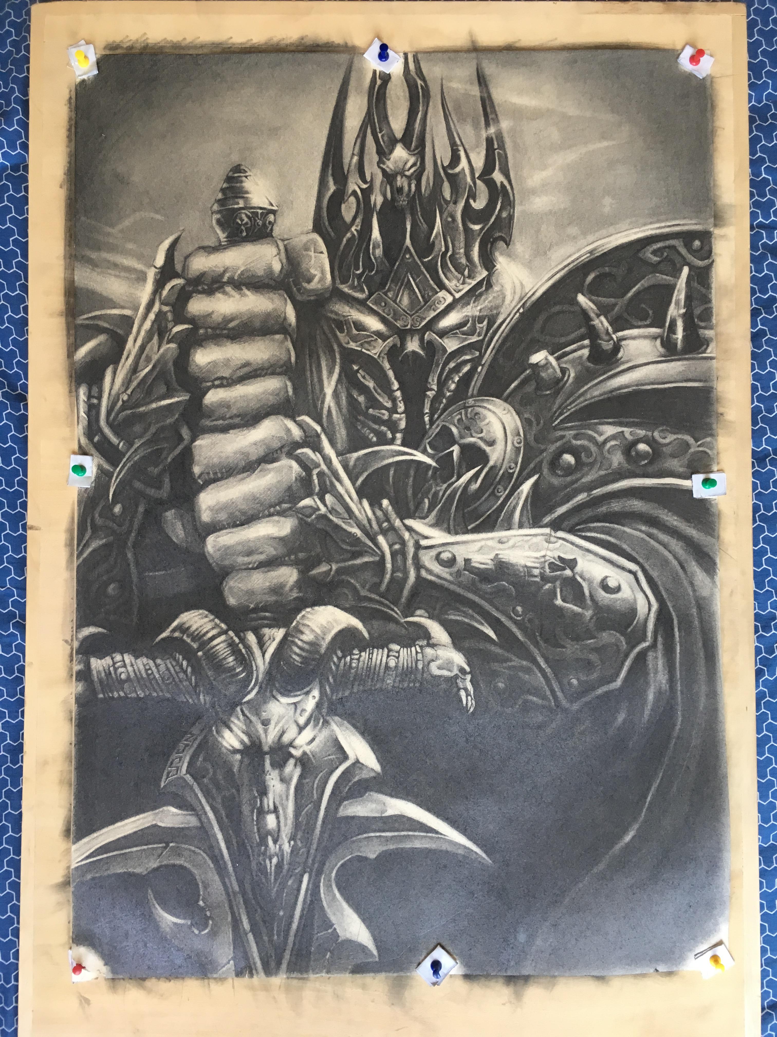 手绘临摹:魔兽世界阿尔萨斯