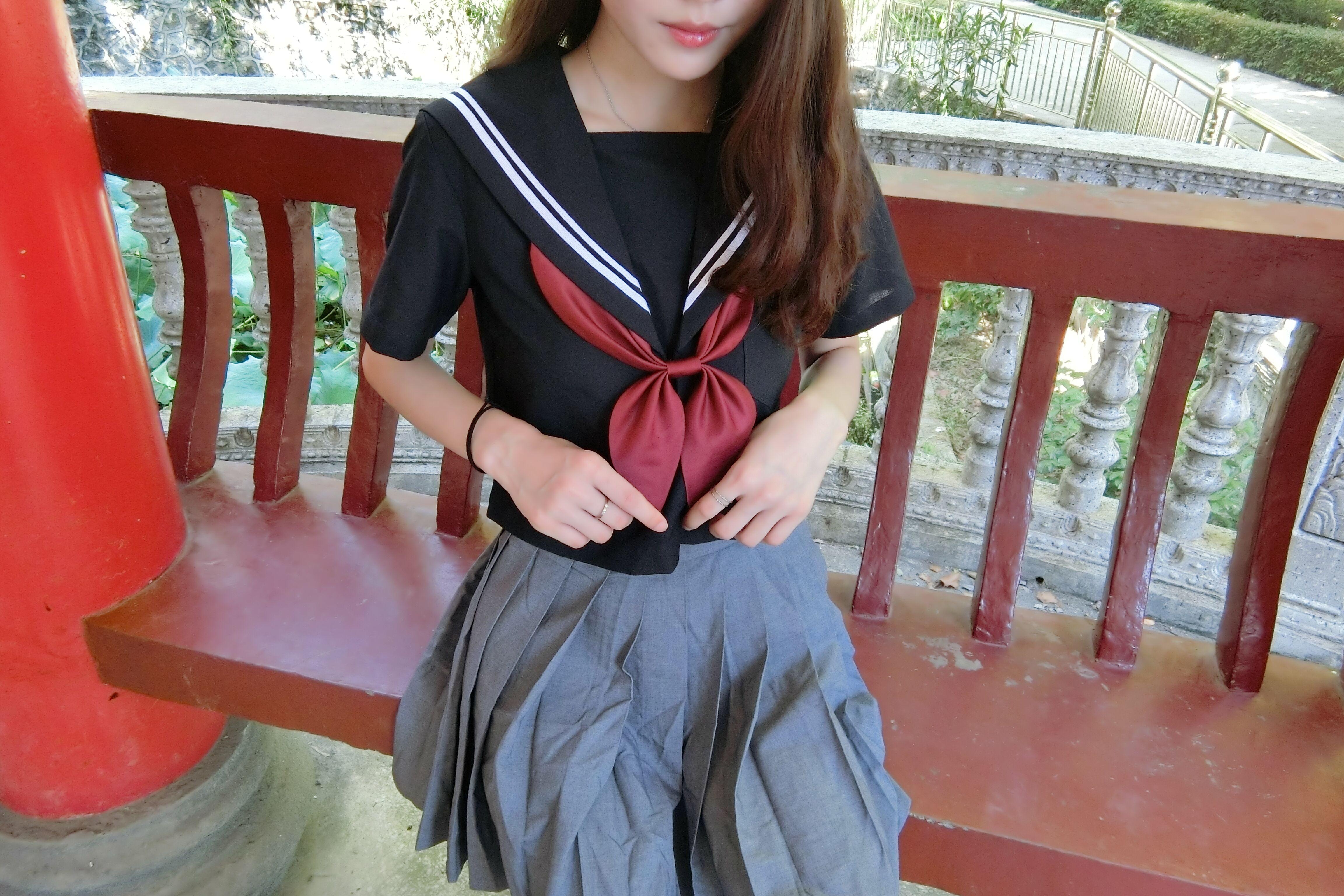 JK制服少女☆ 满满的白丝 粉色连衣裙 ☆