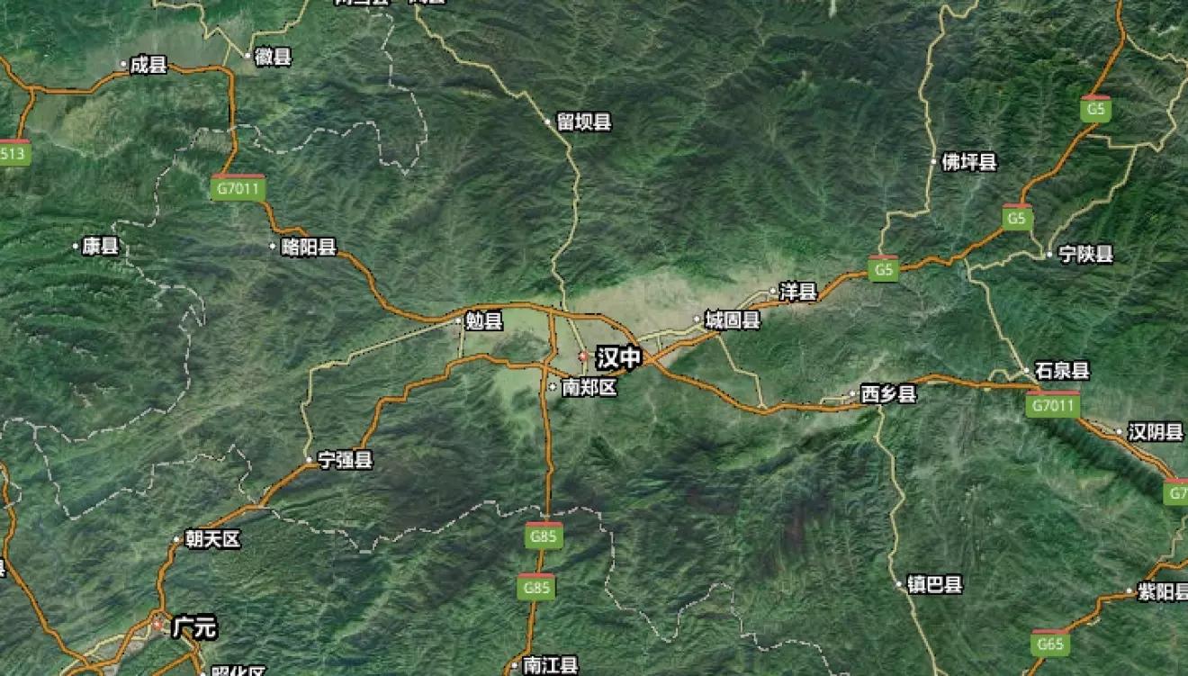 汉中市市区地图全图