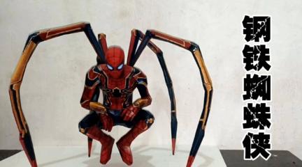帅气的钢铁蜘蛛侠纸模制作教程,看到成品的那一刻,真的被惊艳到了!