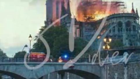 巴黎圣母院失火现场延时记录,这可能是最后的历史影像Part1