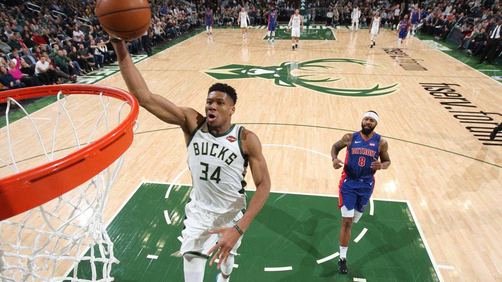 2019-2020 NBA常规赛 密尔沃基雄鹿 VS 底特律活塞 集锦Part1