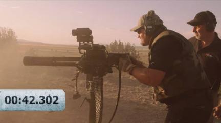 米尼冈机枪1分钟连射暴力测试