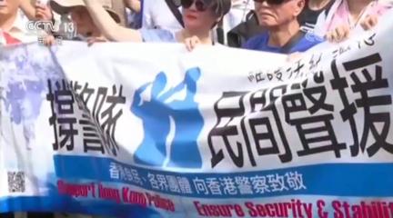 香港市民集會支持警方執法