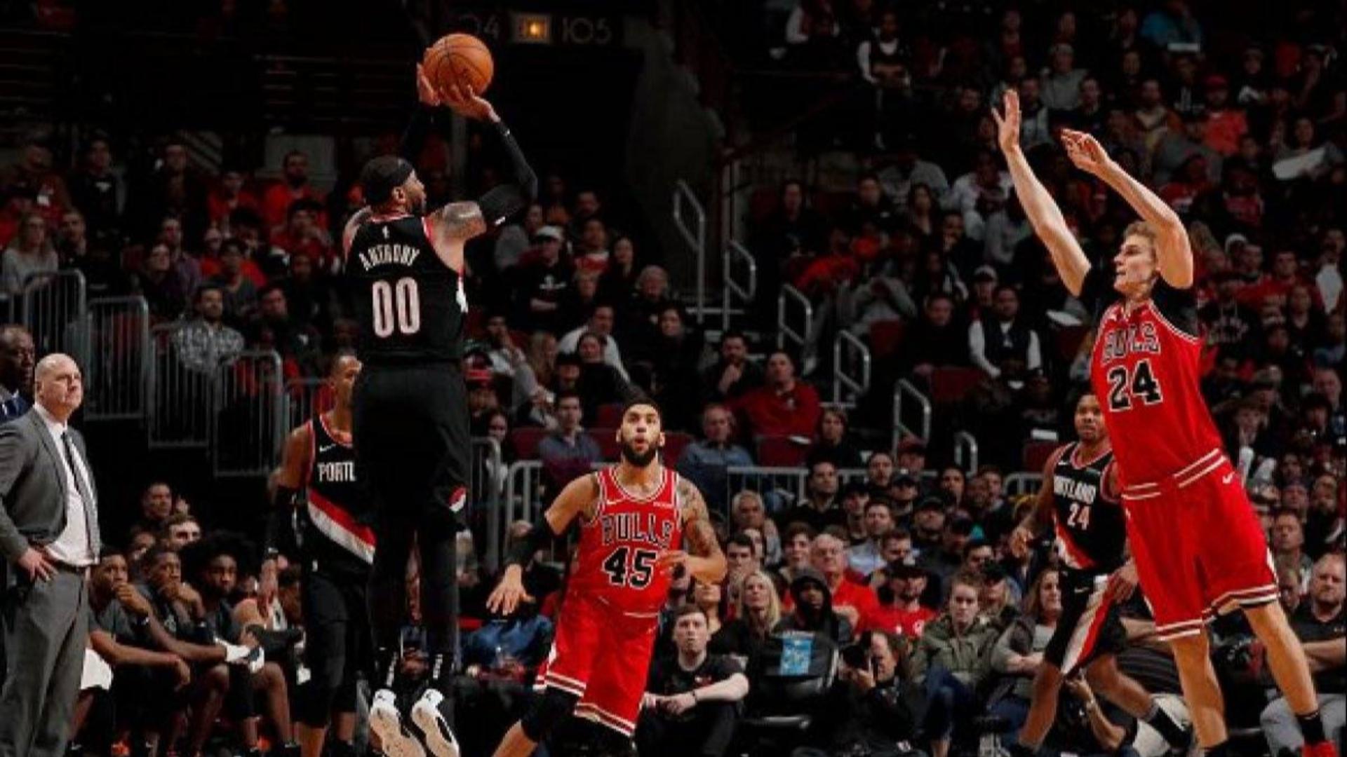 2019-2020 NBA常规赛 芝加哥公牛 VS 波特兰开拓者 集锦Part1