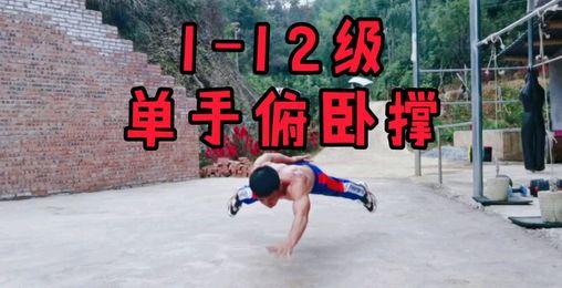 十二级单手俯卧撑,欢迎大家挑战,看你能做到几级