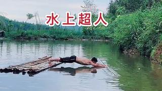 挑战水上超人俯卧撑,少1个自罚100个钻石俯卧撑,是个狠人