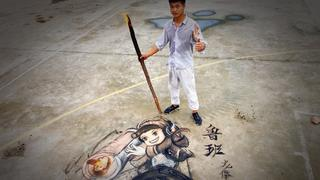 火笔绘画【鲁班七号】智商二百五的小家伙,太惹人喜爱了