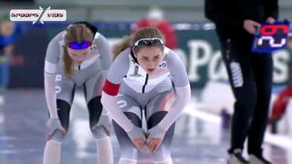 超好看的女子速滑比赛