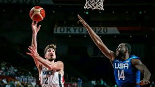 2020东京奥运会男篮比赛!法国vs美国全场高光集锦!