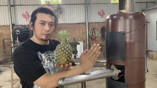 自制木人桩菠萝削皮器