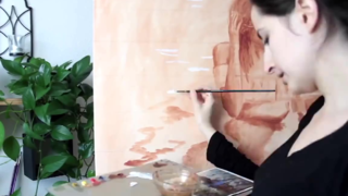 小姐姐花2年时间完成的油画,过程都浓缩在这4分钟的短片里