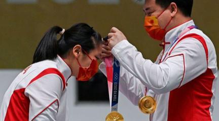 【第7金】混合团体射击10米气手枪全程回放 庞伟/姜冉馨夺得金牌