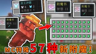 我的世界:附魔系统出2.0了?57种新附魔,击杀村民获得绿宝石!