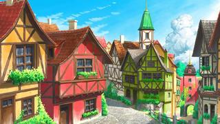 【行之】【日系场景】欧洲小镇场景绘制