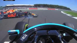 F1 2021英国正赛,汉密尔顿故意撞车夺冠,勒克莱尔精彩发挥第二带回