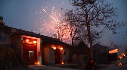 咸阳乾县农民怎么过元宵节?下午上坟,晚上放烟花,笼篝火