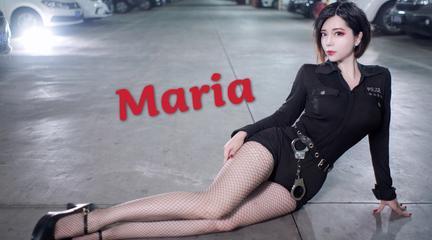 【椰汁兔】进来乖乖被我逮捕!停车场的危险女特工~Maria