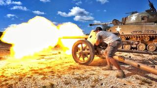 【爆破牧场】德国Pak-40炮 VS 卡车引擎