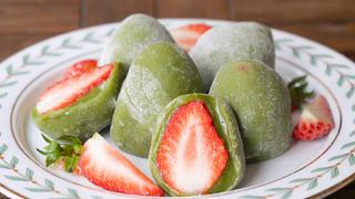 吃不完的草莓,教你做成草莓糯米糍,酸甜软糯,好看又好吃