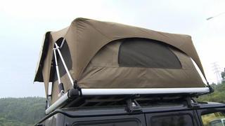 """车顶上""""行军床""""?53岁驴友发明车顶帐篷,智能升降一键远程遥控"""