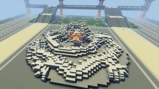 【我的世界】我的机场 广场雕塑