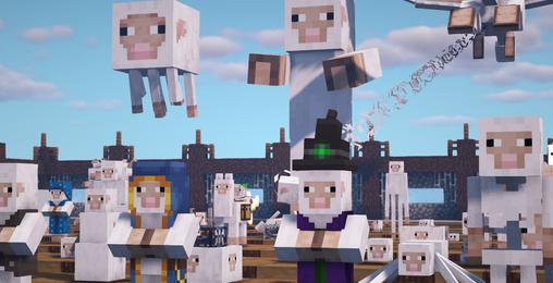 我的世界:假如mc的所有生物都变成了羊?太精神污染了!