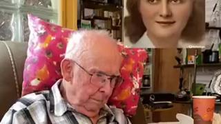 当老爷爷看到已逝妻子的照片通过AI技术动了以后....