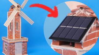 用小砖块从0搭建一个风车,还是太阳能供电